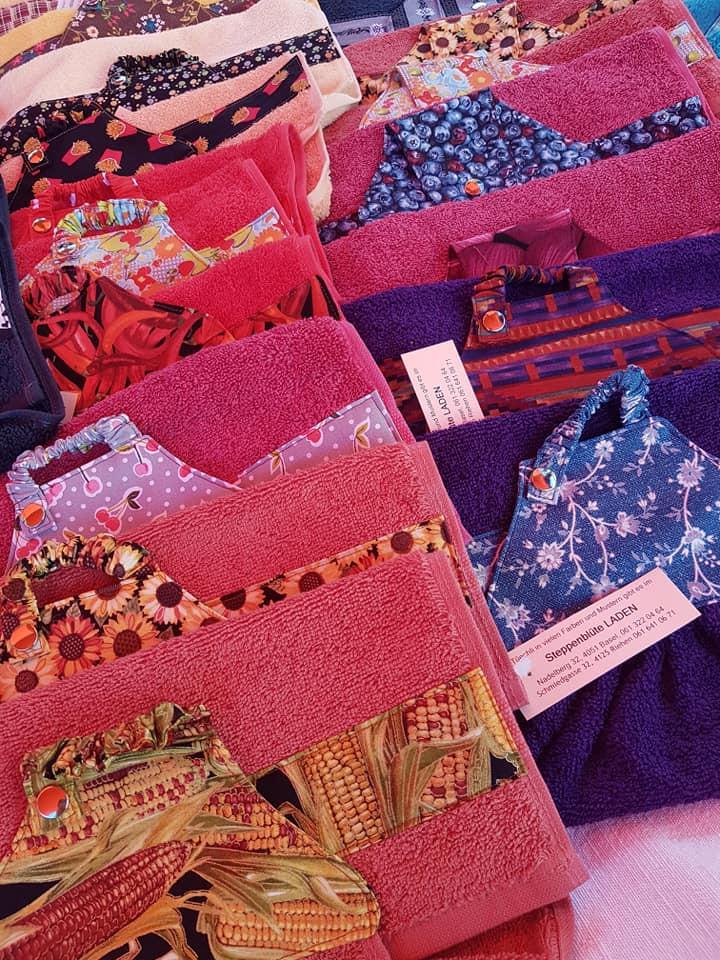 Frucht-Werk, mit selbstgenähten Handtüechli, Projekt für ein Spital in Afrika